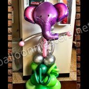 Elephant balloon sculpture for baby shower
